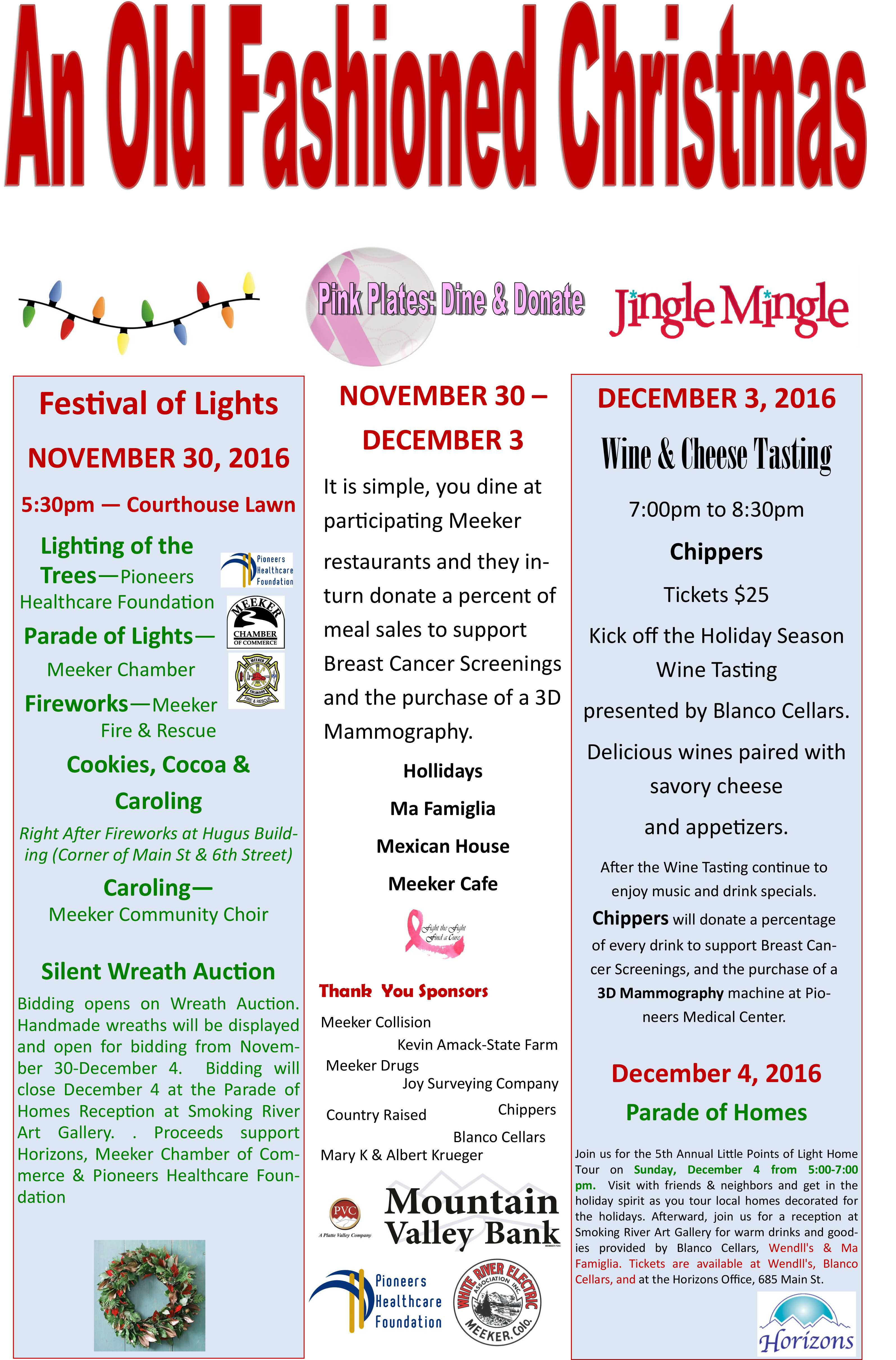 """Meeker Chamber of Commerce - """"Old Fashioned Christmas"""" – Community ..."""